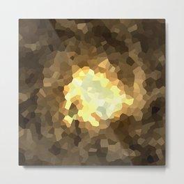 Gold Light Universe Love Metal Print
