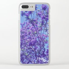 Purple Jacaranda Clear iPhone Case