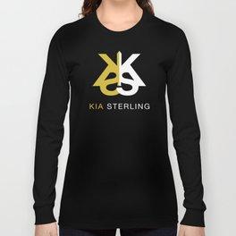 Kia Sterling Gold/White Long Sleeve T-shirt