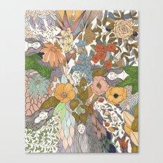 Falling Asleep in the Flowers Fine Art Print Canvas Print