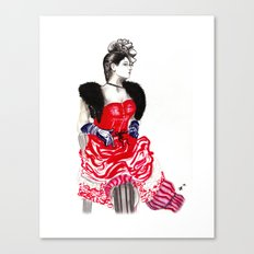 Can Can Dancer Canvas Print
