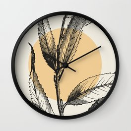 Antique botanical 3 Wall Clock
