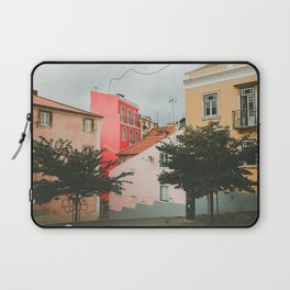 Colorful Pink Walls in Alfama District Laptop Sleeve