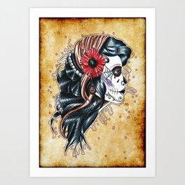 gypsy girl tattoo Art Print