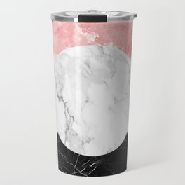 Marble Print With Geometric Forms. Travel Mug