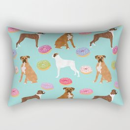 Boxer donuts cute gifts for pure breed dog lover Boxers dog owners Rectangular Pillow