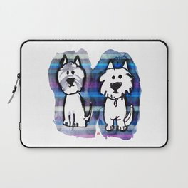 Two very serious Westies Laptop Sleeve
