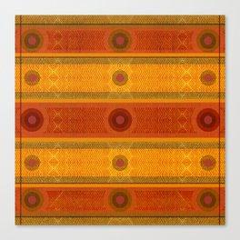 """Ethnic Pattern Warm Tones II"" Canvas Print"