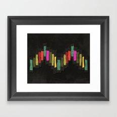 Block Chevron Framed Art Print