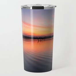 Beautiful lake at summer sunset Travel Mug
