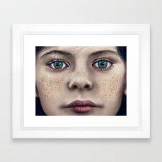 Blue Eyed Girl Framed Art Print