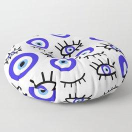 mediterranean evil eye Floor Pillow