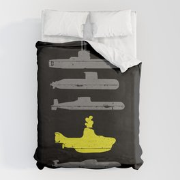 Know Your Submarines Duvet Cover