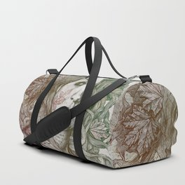 Wake: Autumn (street art woman with maple leaves tattoo) Duffle Bag