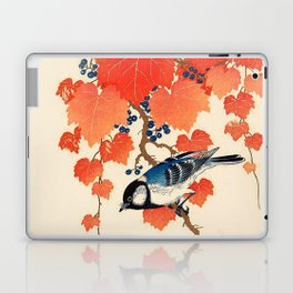 Vintage Japanese Bird and Autumn Grapevine Laptop & iPad Skin