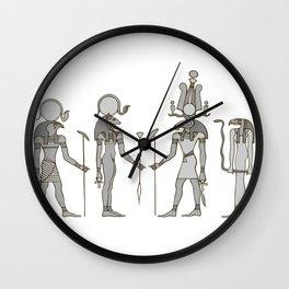 Gods of ancient Egypt Wall Clock