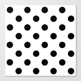 Polkadot (Black & White Pattern) Canvas Print