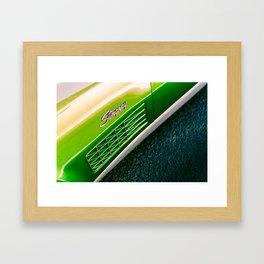 Green Stingray Framed Art Print