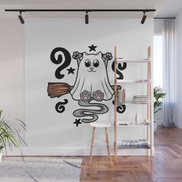hollween kitty Cat Cat lover scarry Wall Mural