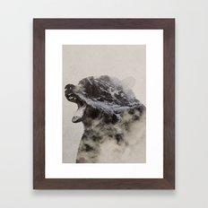 Bear In The Fog Framed Art Print