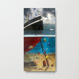 View into the underwater world Metal Print
