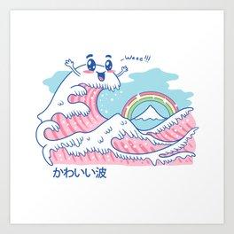 The Great Kawaii Wave Art Print