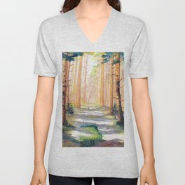 Down The Forest Path Unisex V-Neck
