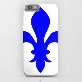 Fleur de Lis (Blue & White) iPhone Case