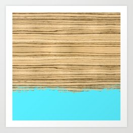 Dipped Wood - Zebrawood Art Print