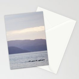 Sunset with the loons Stationery Cards