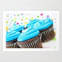 cupcakes Art Prints featuring Cupcakes by ThePhotoGuyDarren