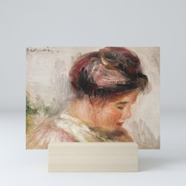 Head of Young Girl (Tte de jeune fille) (1905-1908) by Pierre-Auguste Renoir Mini Art Print