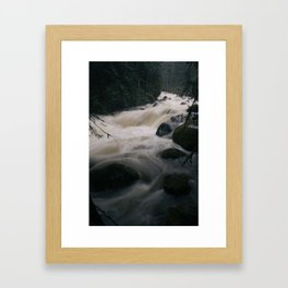 Sultan River Floods, Washington Framed Art Print