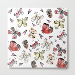 Fly fly butterfly Metal Print