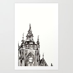 St Vitus's Cathedral Art Print