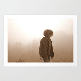 kiss my fog Art Print
