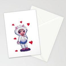 Valentine Kitty Nomz Stationery Cards
