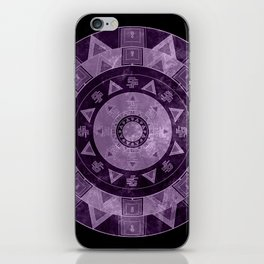 ethnic circle with watercolors iPhone Skin