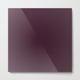 Eggplant Purple Scales Pattern Metal Print