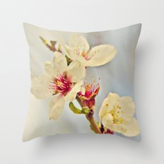 Almond Blossoms in the Wind Throw Pillow
