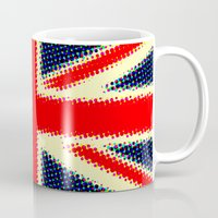 union jack Mugs featuring Union Jack by deff