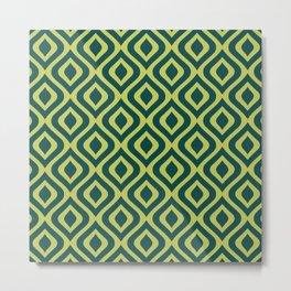 Mid Century Modern Diamond Ogee Pattern 161 Metal Print