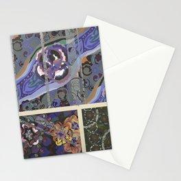 vintage marbled art deco pattern design Stationery Cards