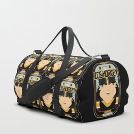 Ice Hockey Black and Yellow - Boardie Zamboni - Amy version Duffle Bag