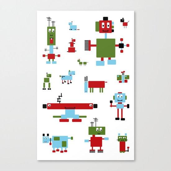 Robots-RGB Canvas Print
