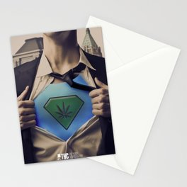 THC Super CannaMan Stationery Cards