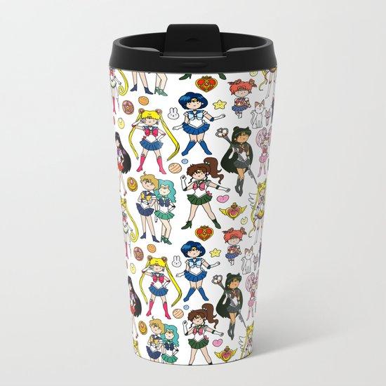 Kawaii Sailor Senshi Doodle Metal Travel Mug