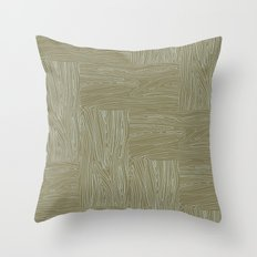 Woodgrain Throw Pillow