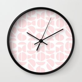 pastel pink semi circle art print Wall Clock