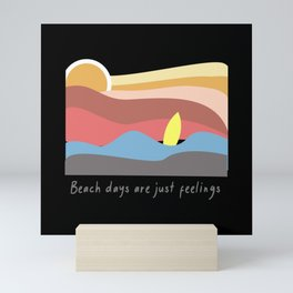 Beach Days Surfer Sunny Surfing Mini Art Print